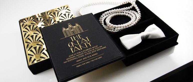 приглашения на свадьбу в стиле Гэтсби