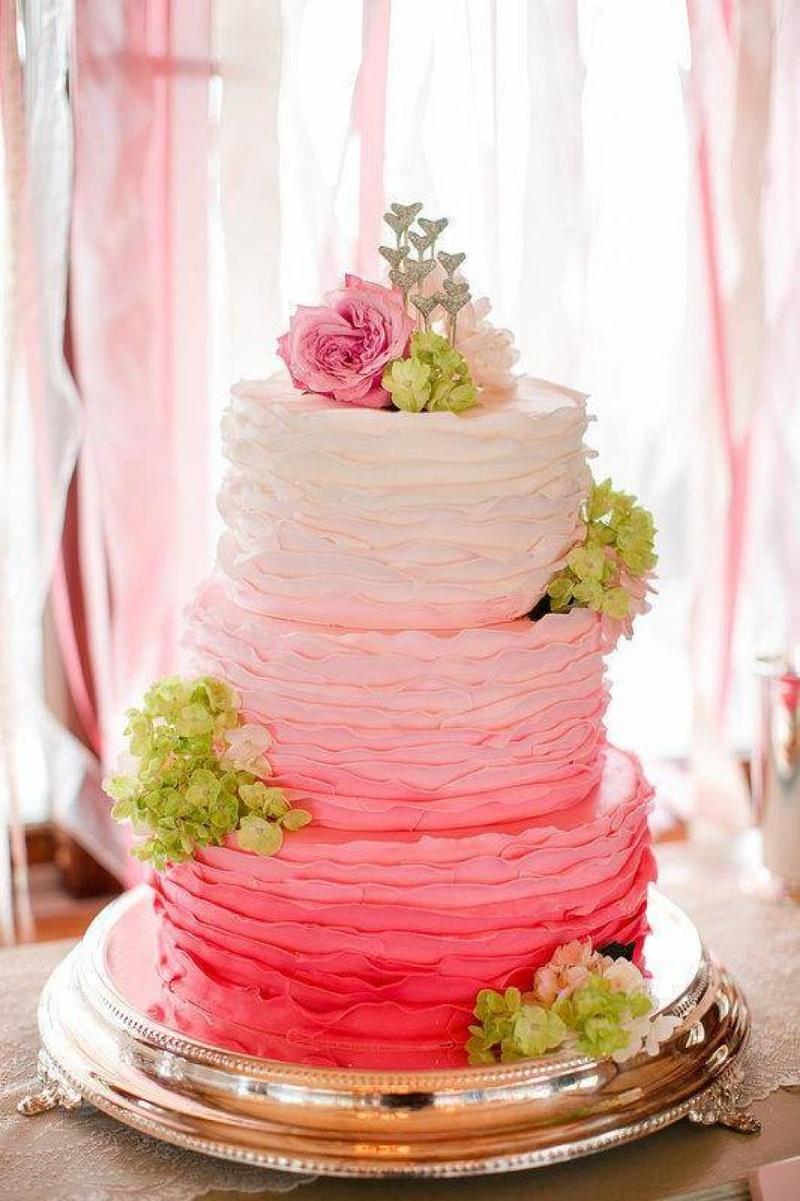 Свадебный торт омбре