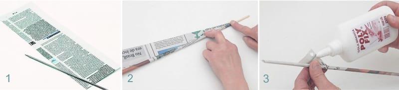 Создание трубочек из бумаги
