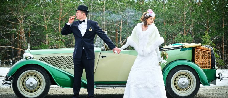 свадебная машина в стиле Гэтсби