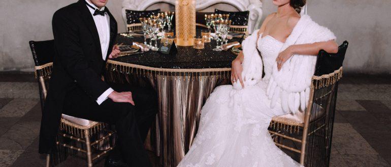 свадебная фотосессия в стиле Гэтсби