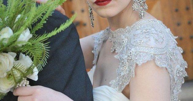 свадебная прическа в стиле Гэтсби