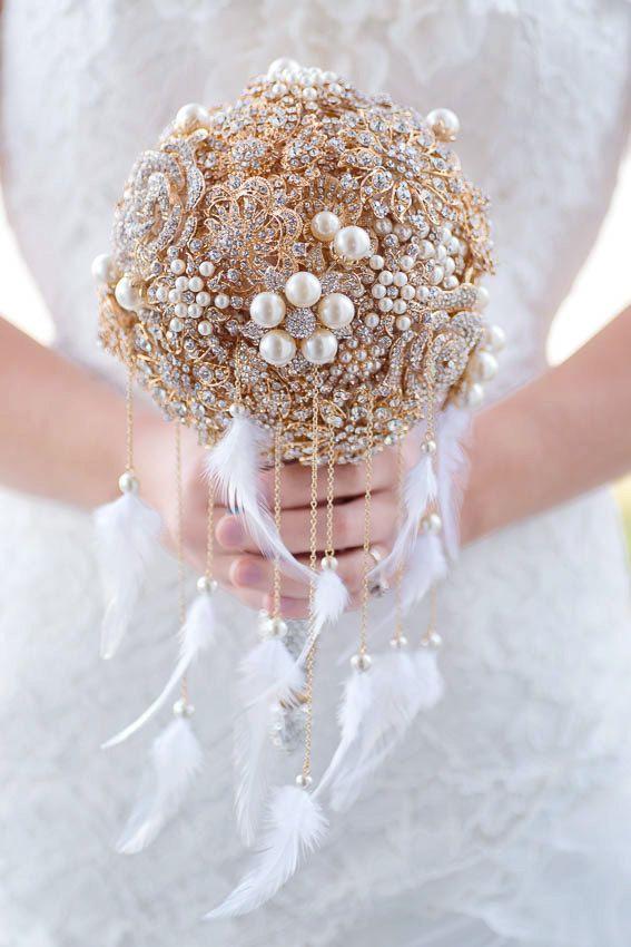 свадебный букет в стиле гэтсби