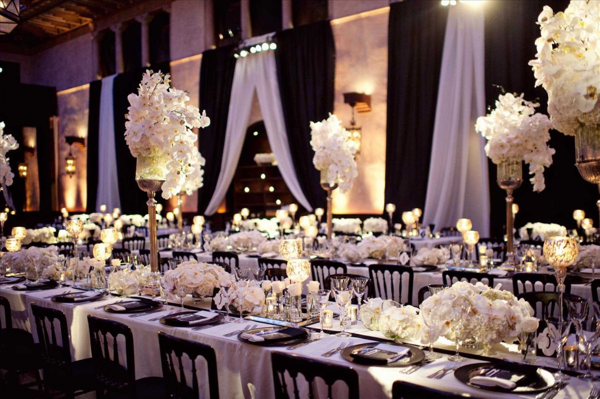 свадебный декор в стиле Гэтсби