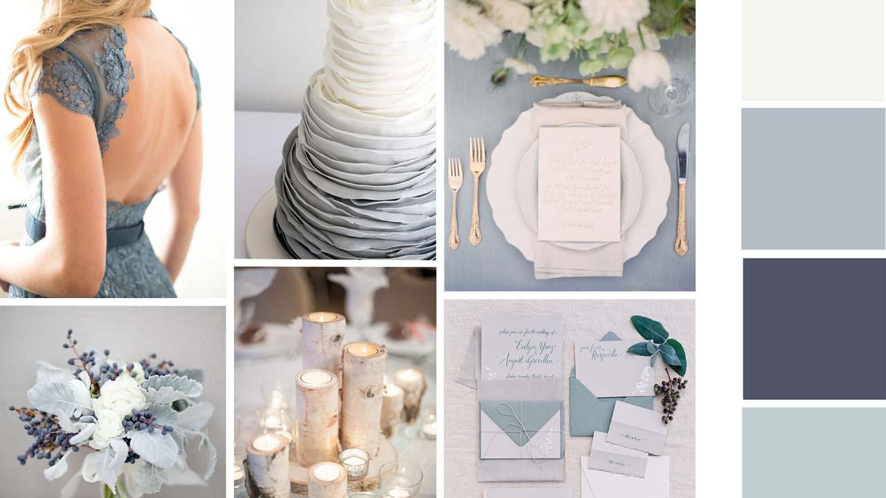 Серый цвет на свадьбе