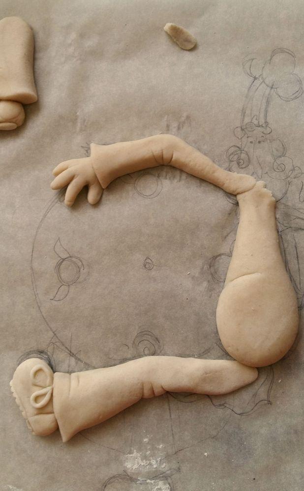 Лепка рук и ног