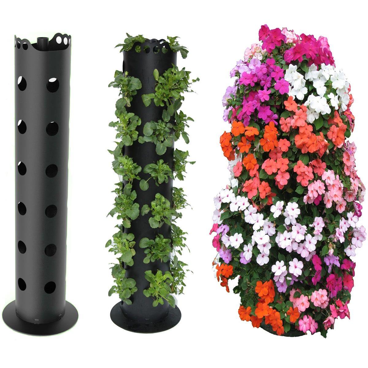 Цветники из трубы