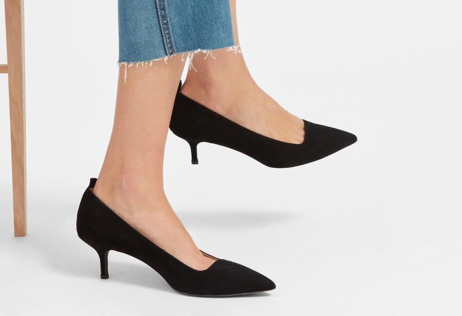 Туфли на низкой шпильке