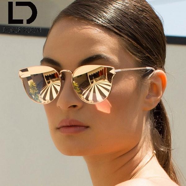 Модные зеркальные очки