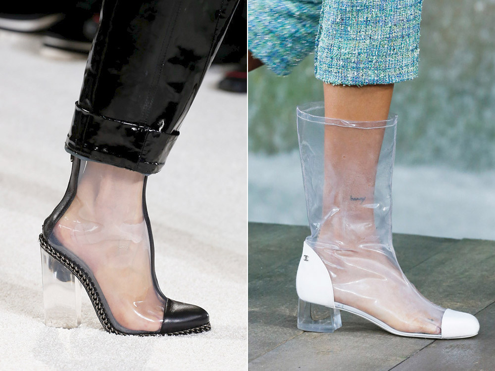 Прозрачная обувь лето 2018